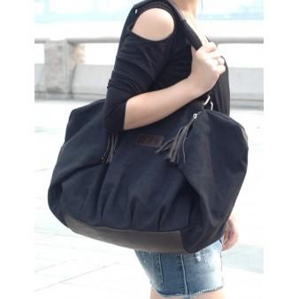 black across shoulder bag