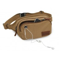 Canvas multi pocket waist bag
