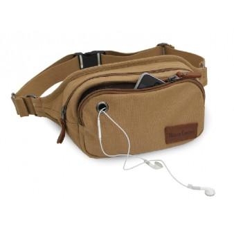 Canvas multi pocket waist bag, discount fanny pack