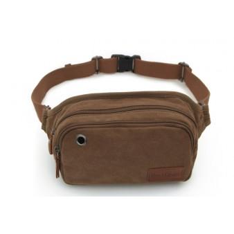 Canvas multi pocket waist bag for men