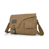 khaki Canvas messenger bag for men