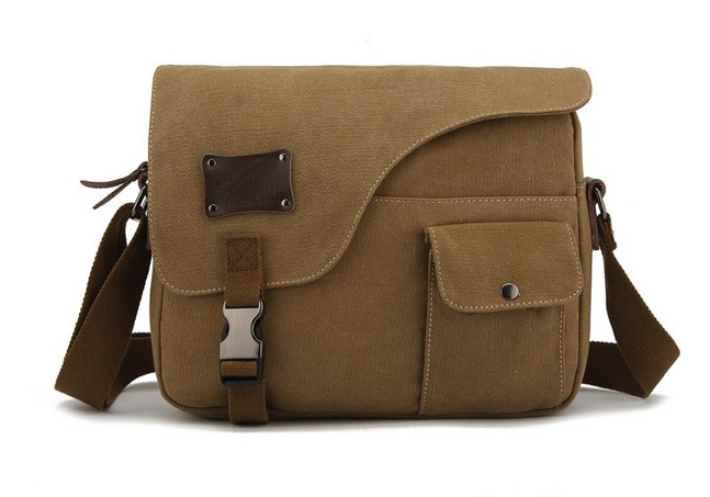 Canvas messenger bag for men, ipad over the shoulder book bag ...