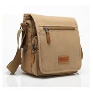 Mens small canvas shoulder bag