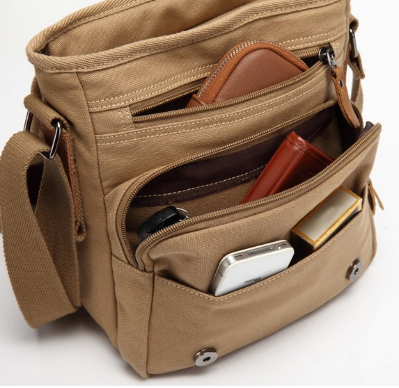 Mens small canvas shoulder bag, shoulder bags for teenagers ...