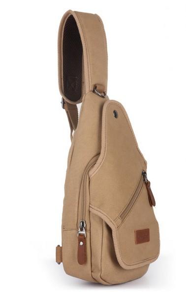 38d47a014afe ... khaki one shoulder messenger bag  canvas Shoulder sling bag ...