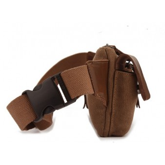 coffee canvas fanny pack