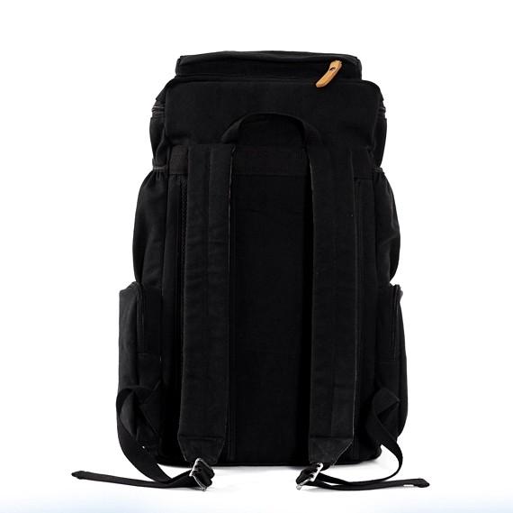 Rugged Backpack Black Canvas Unique Laptop