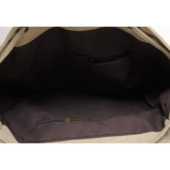 khaki Canvas backpack purses for women