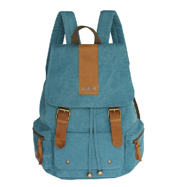 ... blue Canvas backpack purses for women ... 1623dccb25193