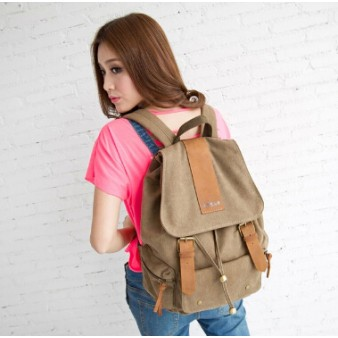 coffee Canvas backpack purses for women