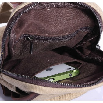 khaki Messenger bag backpack