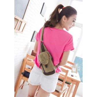 canvas one shoulder backpack