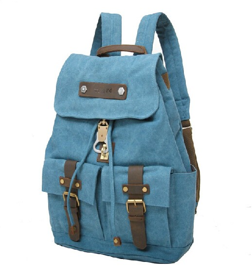 c0922c7cb8 Cute canvas backpack for girls  bag backpacks  blue ...
