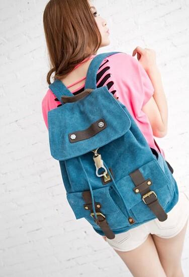 Cute canvas backpack for girls, bag backpacks - UnusualBag