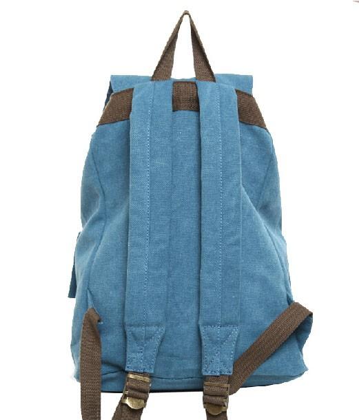 64a7e23b35 ... blue bag backpacks  Cute canvas backpack ...