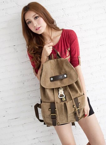 7d57df70f1 ... coffee Cute canvas backpack for girls ...