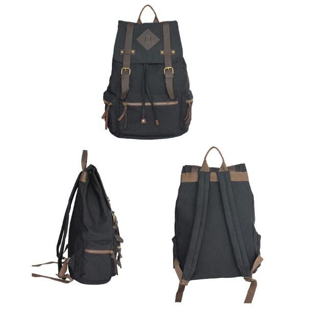 Large canvas rucksack, canvas backpacks for men - UnusualBag