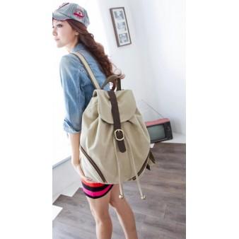 khaki Personalized drawstring backpack