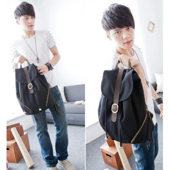 black Personalized drawstring backpack