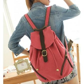 orange Personalized drawstring backpack