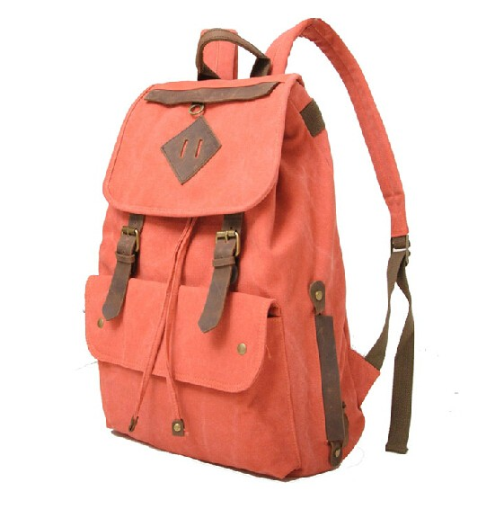 Girls canvas rucksacks, vintage backpack - UnusualBag