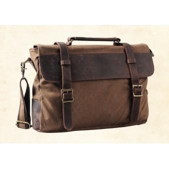 Fabric shoulder bag, distressed canvas messenger bags