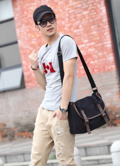 Men shoulder bag, over shoulder bag - UnusualBag