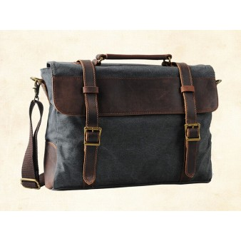 grey distressed canvas messenger bags
