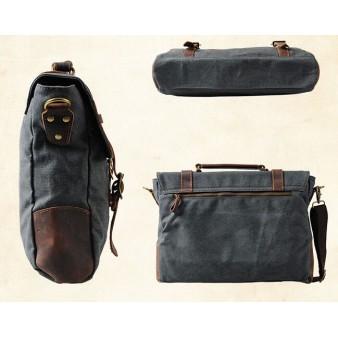 grey canvas messenger bags