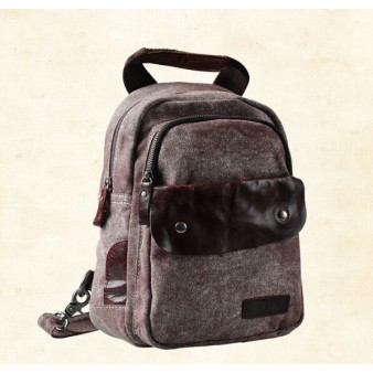 brown over the shoulder backpack