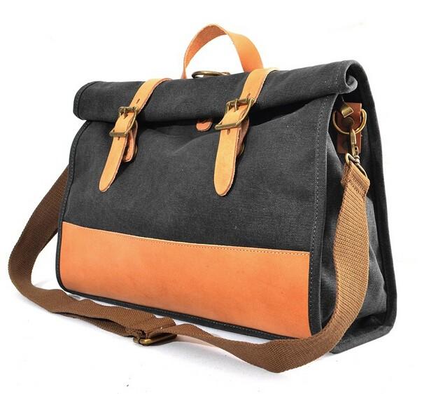 Grey Crossbody Bags Messenger School Bag