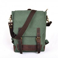 green SCHOOL canvas backpack