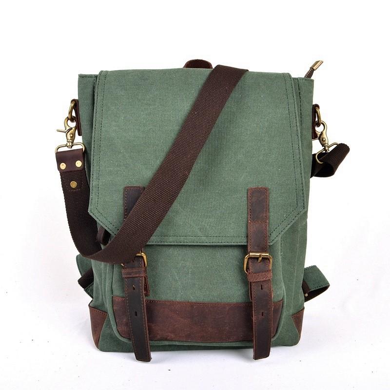 4d5a861899 green SCHOOL canvas backpack ...