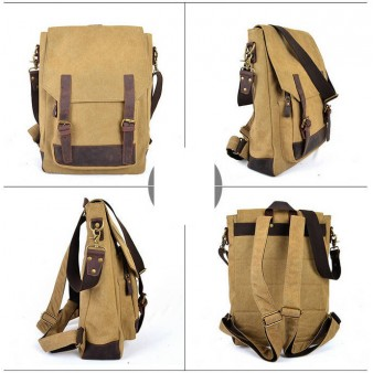 SCHOOL canvas backpack