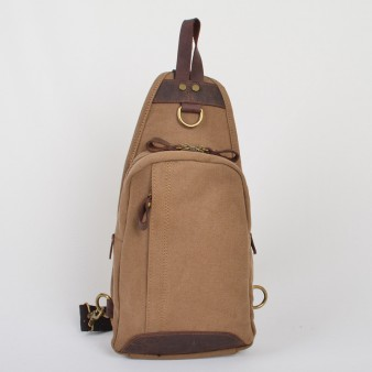 khaki Vogue Chest canvas bag