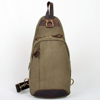 army green Vogue Chest canvas bag