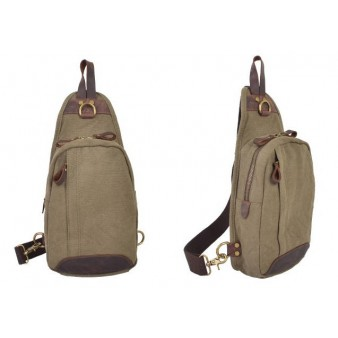 army green Vintage canvas Sling bags