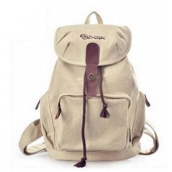 beige trendy backpack