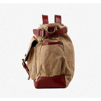 Practical Leather Canvas Bag
