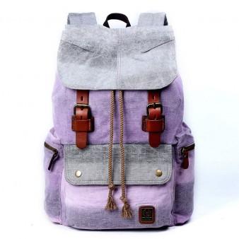 purple Girls Canvas Laptop Backpacks