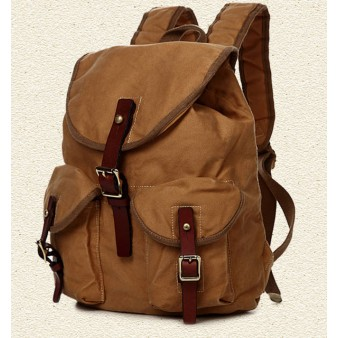 khaki Stylish Drawstring Rucksack On Sale