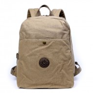 Fashionable Rugged Canvas Backpacks, Canvas Computer Rucksack For Travel