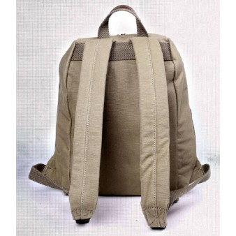 khaki Fashionable Rugged Canvas Backpacks