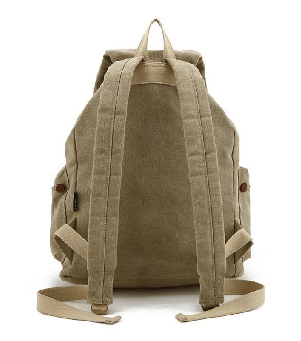 66eb3bec4c Heavy duty backpack  water resistant high school backpack  khaki Heavy duty  backpack ...
