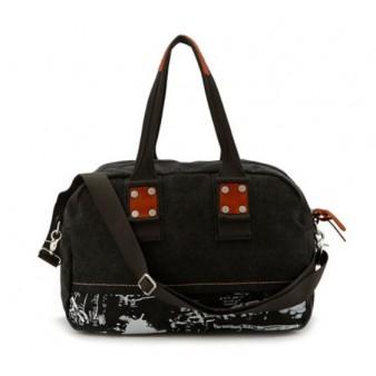 black Ipad travel shoulder bag