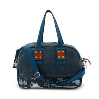 navy water resistant unique handbag
