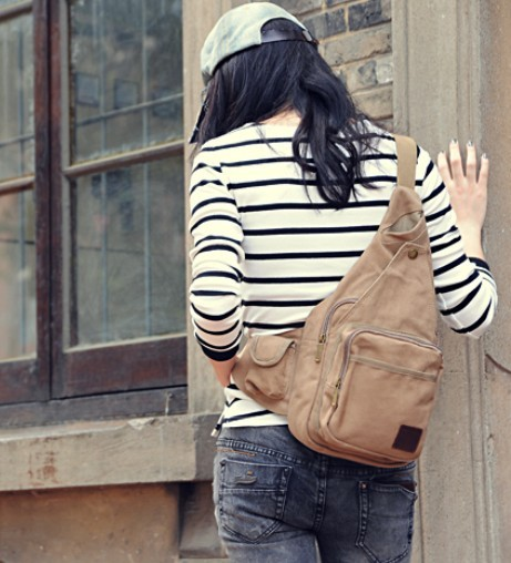 ... canvas Womens shoulder bag  sling backpack ... e63e470de1