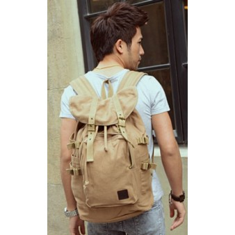 khaki large backpack