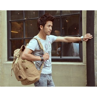 Laptop backpack khaki