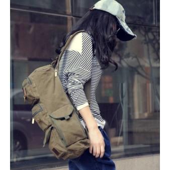 canvas sling messenger bag